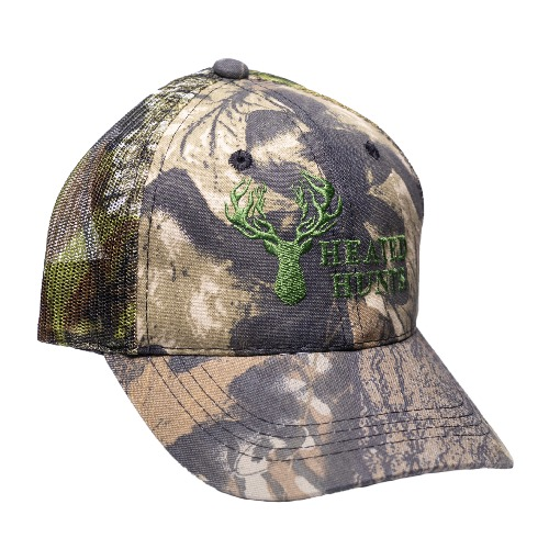 Camo Hat Green Stitch